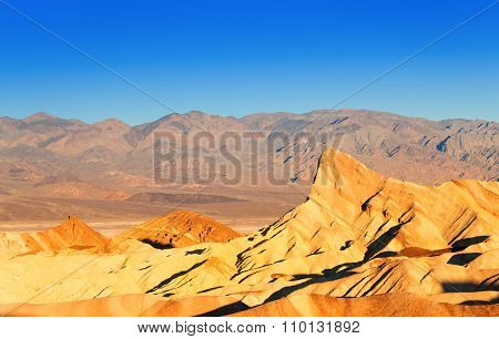 Panorama of the Death Valley rocks