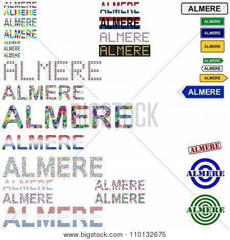 Almere text design set