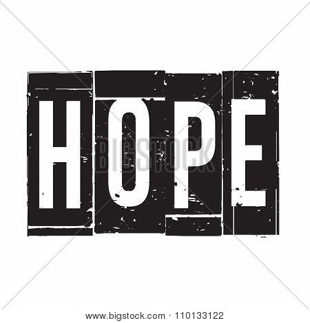 Black Vector Grunge Stamp Hope