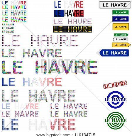 Le Havre text design set