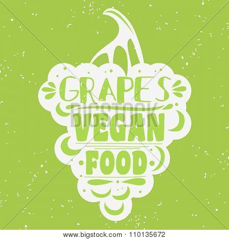 Vegan typographic print .