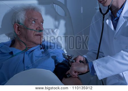 Senior Patient Examined By Doctor