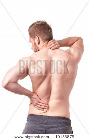 Back Of Muscular Man