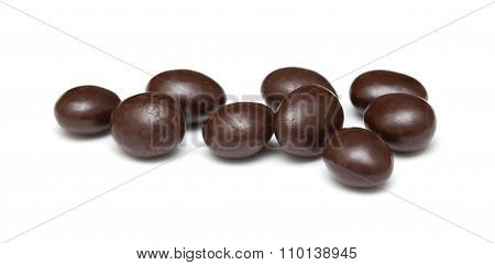 Chocolate Coated Almonds Isolated