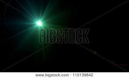 Twinkle Star Lens Flare Green