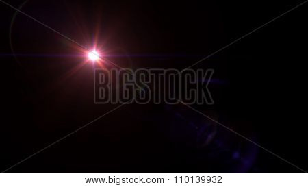 Twinkle Star Lens Flare Red