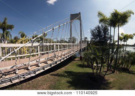 Suspension Bridge in Park