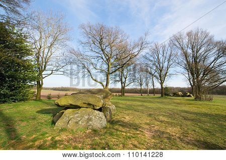 Typical old Dutch graves in Drenthe