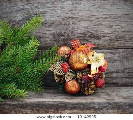 Christmas Tree And Gift.