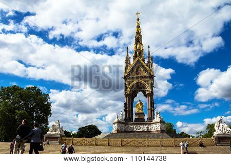 Albert Memorial In London Situated In Kensington Gardens