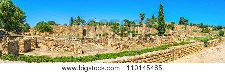 Panorama Of The Roman Villas