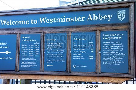 Welcome To Westmister Abbey