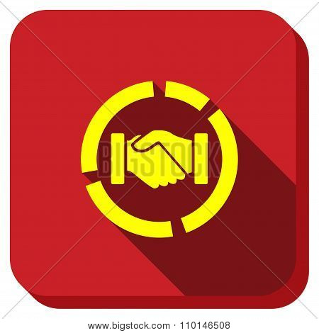 Acquisition Diagram Longshadow Icon
