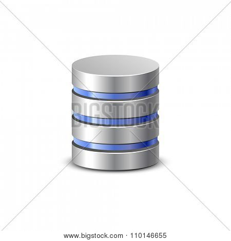 Database icon. Network backup. Communication and hosting objects series. Vector illustration