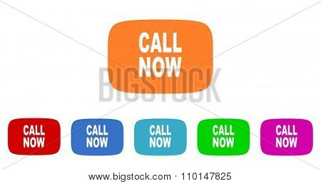 call now flat design modern icon