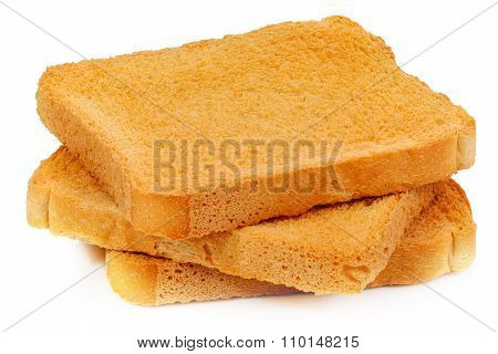 rusk a white background