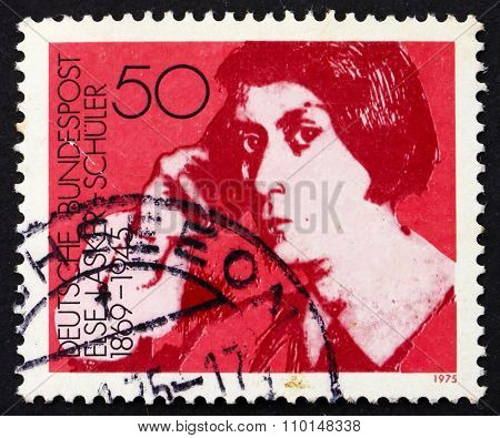 Postage Stamp Germany 1975 Else Lasker-schuler, Poet And Playwri