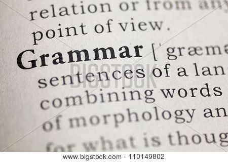 Fake Dictionary, definition of the word Grammar.