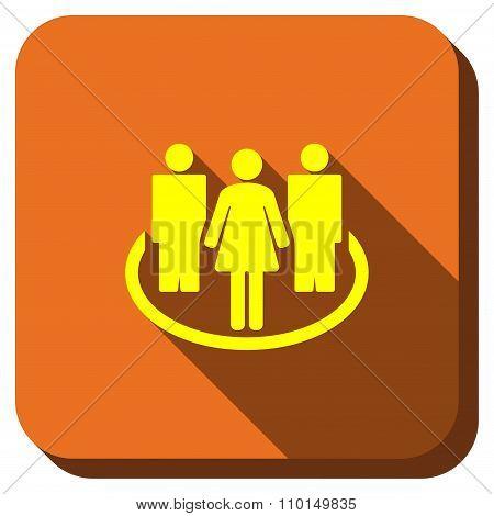 Social Community Longshadow Icon
