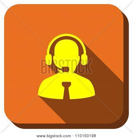 Call Center Operator Longshadow Icon