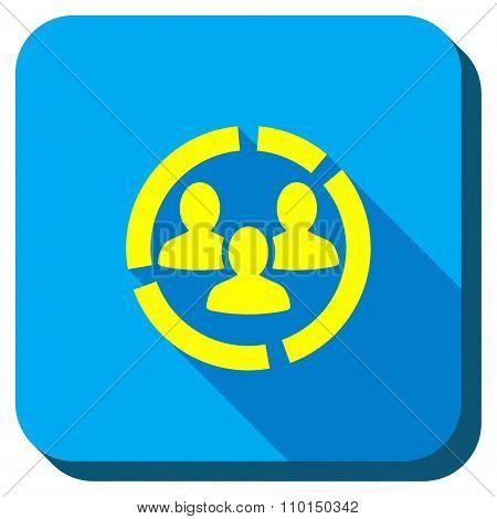 Customers Dialgram Longshadow Icon