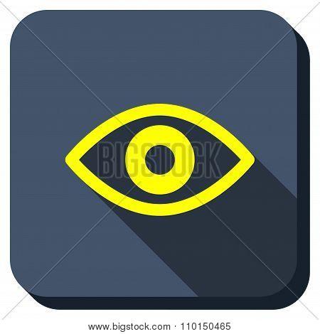 Eye View Longshadow Icon
