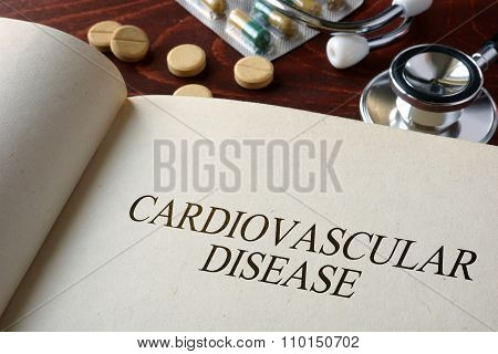 Book with diagnosis cardiovascular disease.