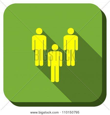 Men Community Longshadow Icon
