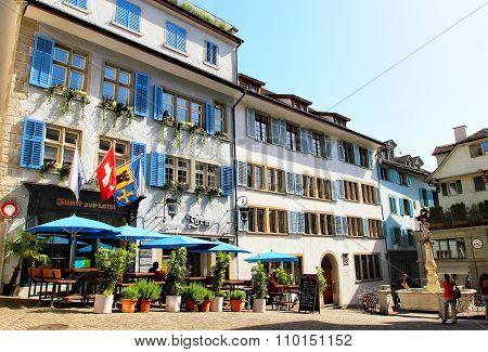 Zurich, Switzeland - 08 June: Street View In Zurich, Switzerland On June 08, 2014. Zurich Is The Lar