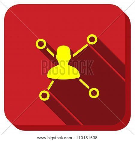 User Links Longshadow Icon