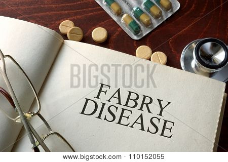 Book with diagnosis Fabry disease.