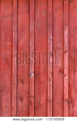 Red Rustic Board And Batten Barn Wood Background