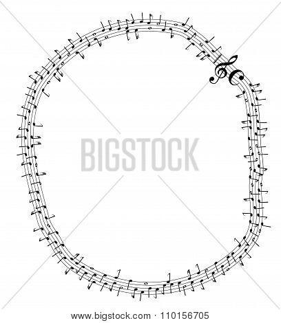 Circular Musical Notes