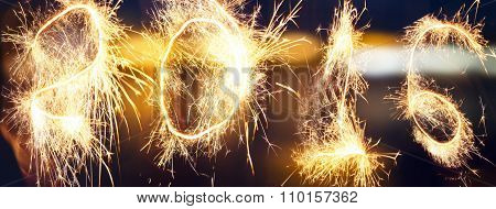 New Year fireworks and confetti 2016