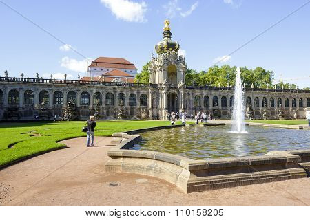 Dresden, Crown Gate Of Zwinger