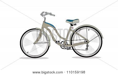 Retro Bicycle Background Vector Illustrator.