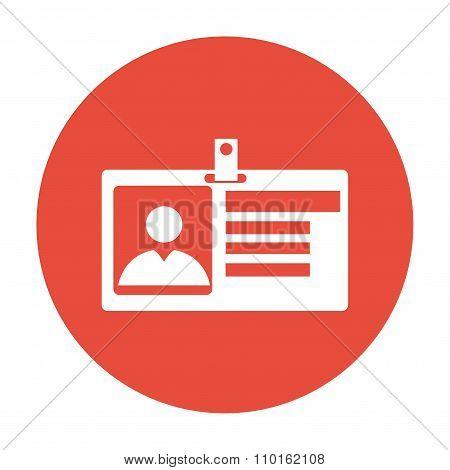 Identification Card Icon. Flat Design Style.