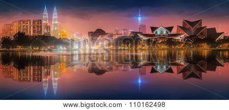 Beautiful cityscape of Kuala Lumpur skyline