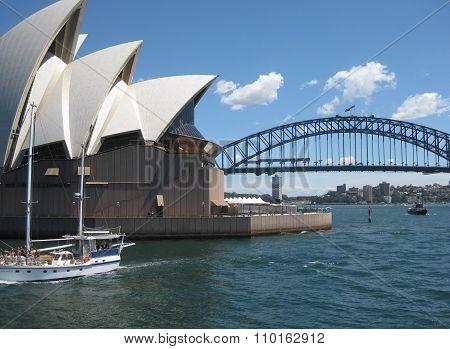 Sydney, Australia - November 18: Side View Of Sydney Opera House. On November 18, 2015 In Sydney, Au