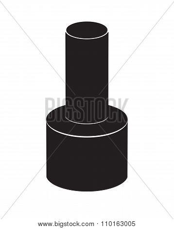 Realistic Nail Polish Vector Illustration