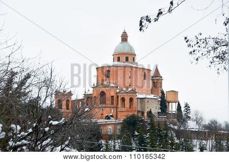 San Luca Sanctuary Winter Snow