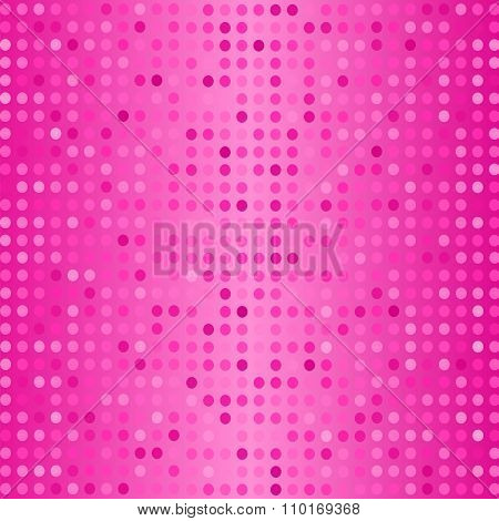 Dots on Pink Background. Halftone Texture.