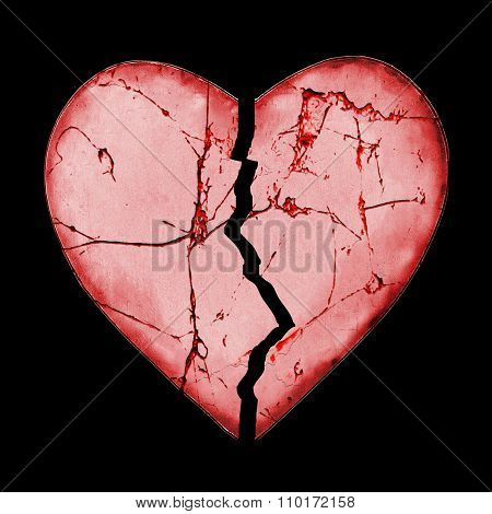 Isolated Broken Heart Concept