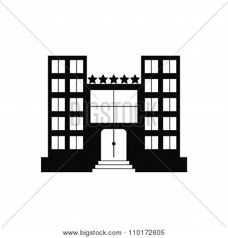 Hotel. Isolated hotel icon on white background.