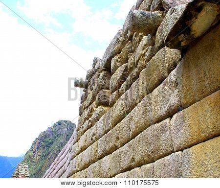 Machu Pichu Ancient Ruins. Detail.