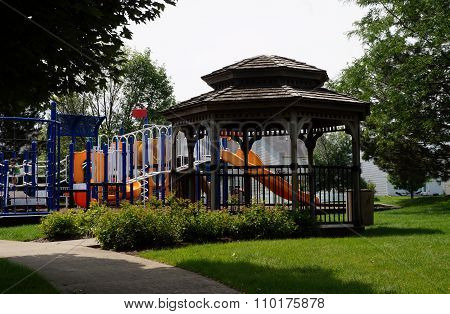 Gazebo by a Playground