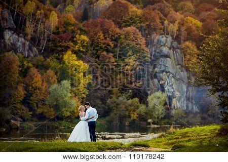 Vintage wedding in the old park