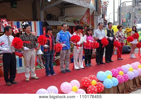 Ribbon Cutting Ceremony At Market Opening