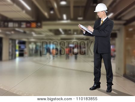 Asian Engineer Checking List Form Of Construction For Safety