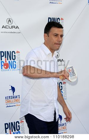 LOS ANGELES - JUL 30:  Jimmy Kimmel at the Clayton Kershaw's 3rd Annual Ping Pong 4 Purpose at the Dodger Stadium on July 30, 2015in Los Angeles, CA